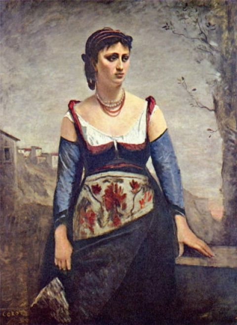 Jean-Baptiste Camille Corot, Agostina Segatori, 1866, olieverf op doek, 138.8 x 95 cm, National Gallery of Art, Washingon DC