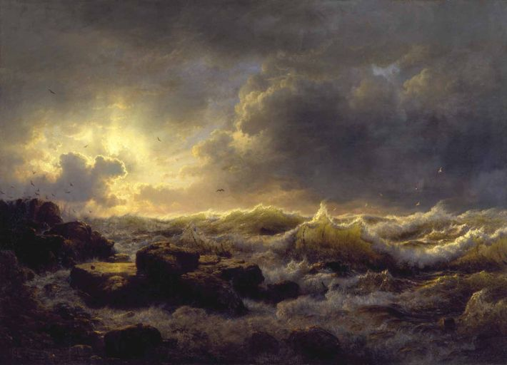 Andreas Achenbach, Clearing Up Coast of Sicily, 1847, olieverf op doek, 83 x 116 cm, Walters Art Museum, Baltimore