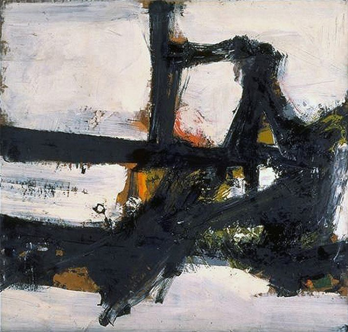 Franz Kline (1910-1962), Orange Outline, 1955, olieverf op karton op doek, 96.5 x 101.6 cm, North Carolina Museum of Art