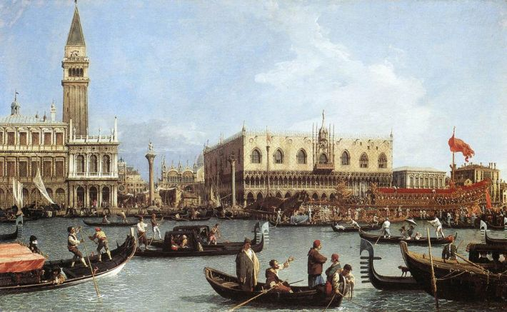 Canaletto, Return of the Bucintoro to the Molo on Ascension Day, 1732, olieverf op doek, 77 x 126 cm, Royal Collection, Windsor Castle, Berkshire