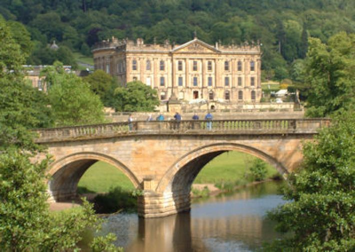 Het Chatsworth House in Bakewell, Derbyshire, Engeland (foto: Rob Bendall)