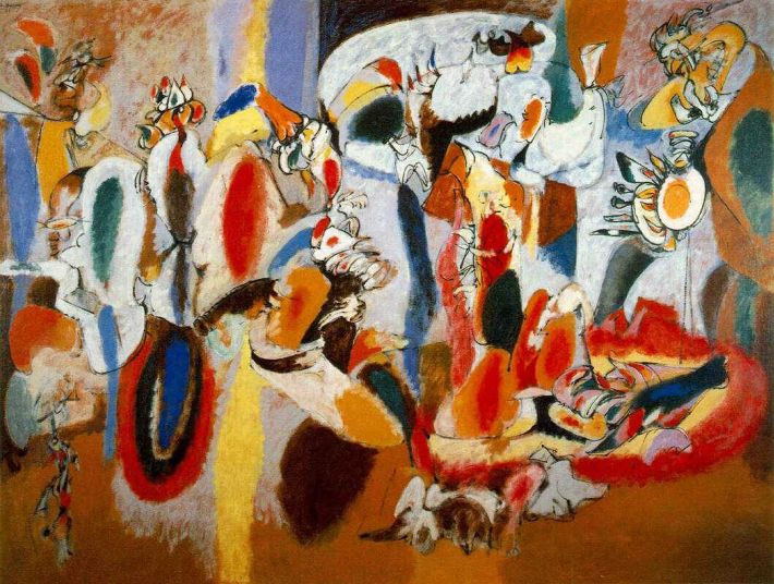 Arshile Gorky, The Liver is a Cock's Comb, 1944, olieverf op doek, 186 x 249 cm, Albright-Knox Art Gallery, Buffalo, New York