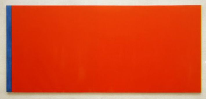 Barnett Newman, Who's Afraid of Red, Yellow and Blue III, 1967-68, olieverf op doek, 245 x 543 cm, Stedelijk Museum, Amsterdam