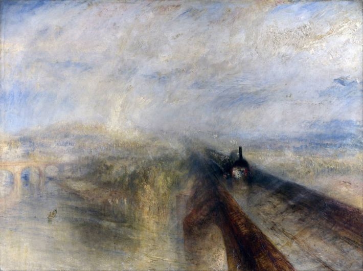 William Turner (1775-1851), Rain, Steam and Speed - The Great Western Railway, 1844, olieverf op doek, 91 x 121.8 cm, National Gallery, Londen