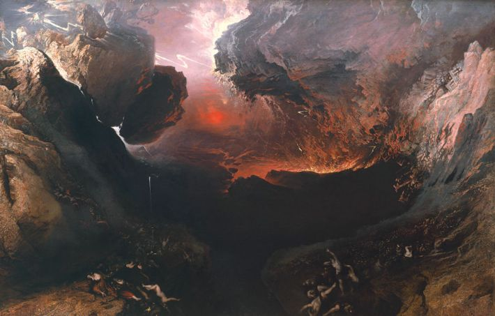 John Martin (1789–1854), The Great Day of His Wrath [De grote dag van zijn toorn], 1851–53, olieverf op doek, 196.5 x 303.2 cm, Tate Britain, Londen