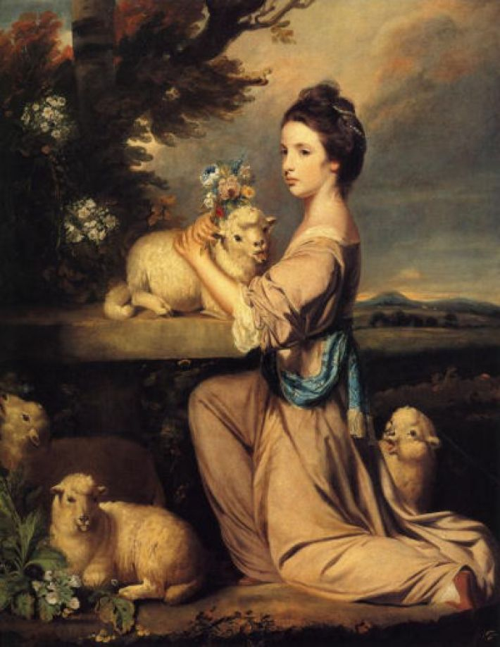 Sir Joshua Reynolds, Lady Mary Leslie, 1764, olieverf op doek, 139 x 110 cm, The Iveagh Bequest, Kenwood House, Londen
