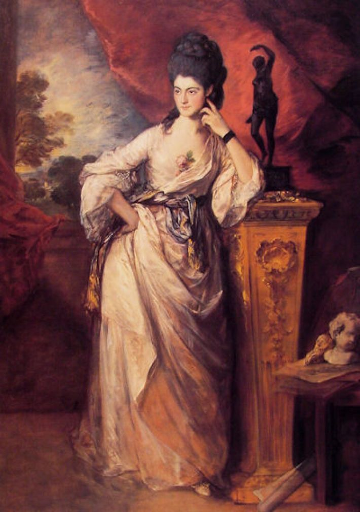 Thomas Gainsborough, Lady Ligonier, 1770, olieverf op doek, 263 x 155 cm, Huntington Library Art Collections, San Marino