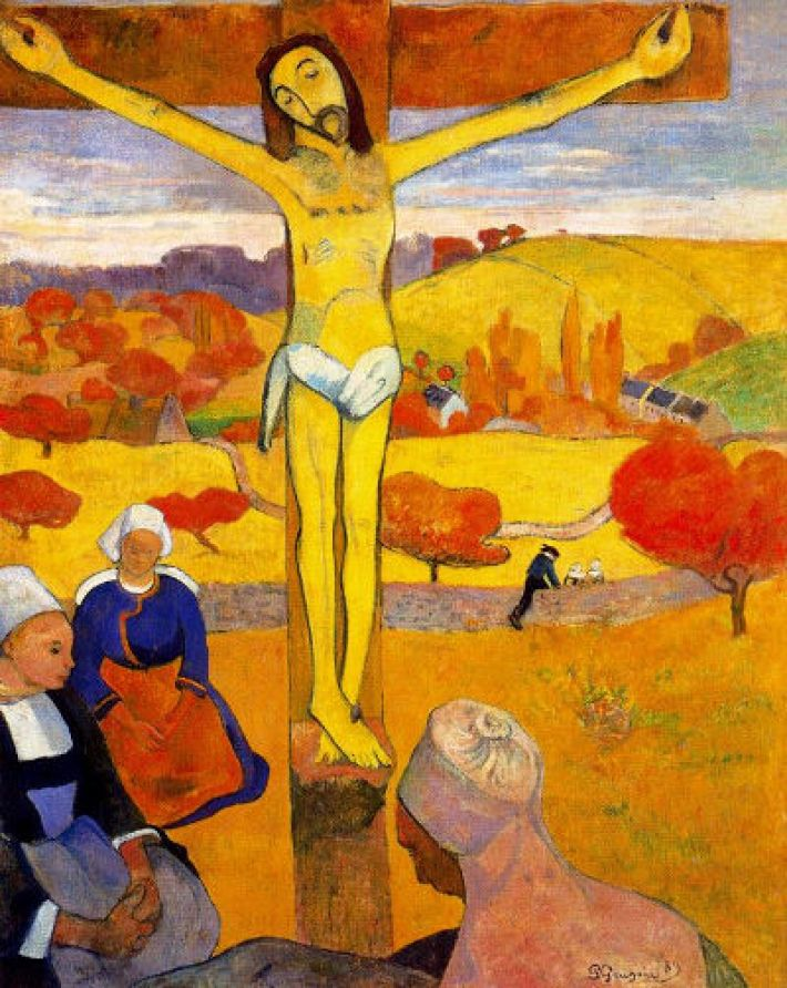 Eugène Henri Paul Gauguin, De gele Christus, 1889, olieverf o pdoek, 92.1 × 73 cm, Albright-Knox Art Gallery, Buffalo, New York