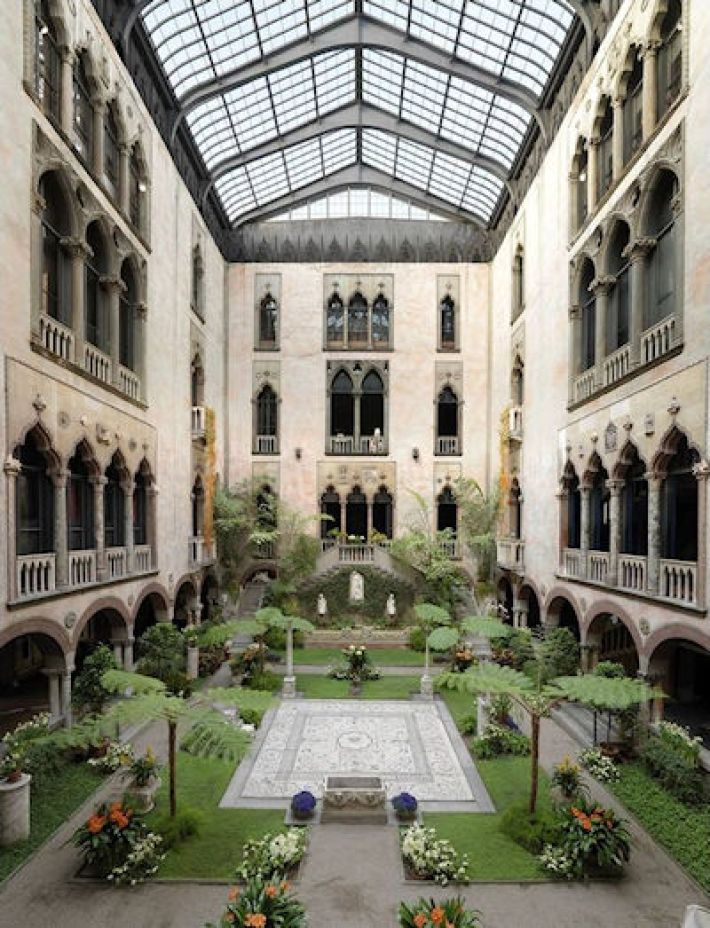 Het Isabella Stewart Gardner Museum in Boston Massachusetts, USA