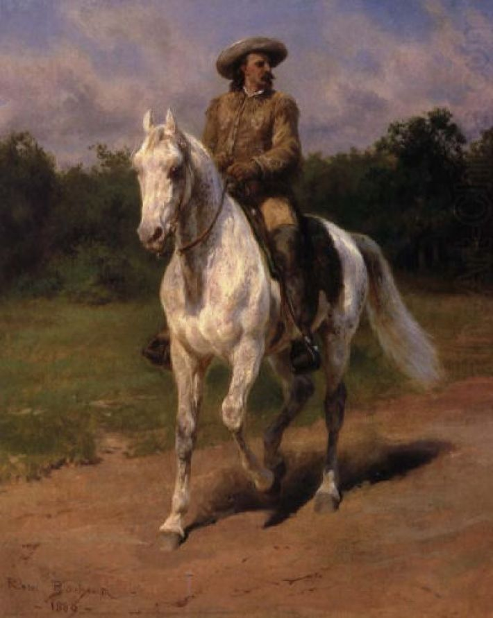 Rosa Bonheur, Col. William F. Cody (Buffalo Bill), 1889, olieverf op doek 47 x 38.7 cm, Buffalo Bill Center of the West, Cody, Wyoming, USA