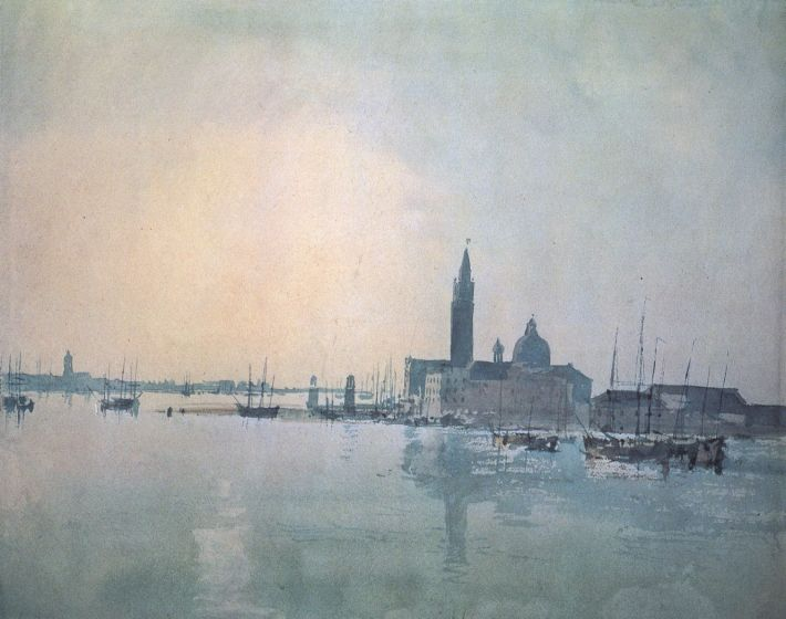 William Turner, San Giorgio Maggiore in de morgen, 1819, waterverf, 22 x 28 cm, British Museum, Londen