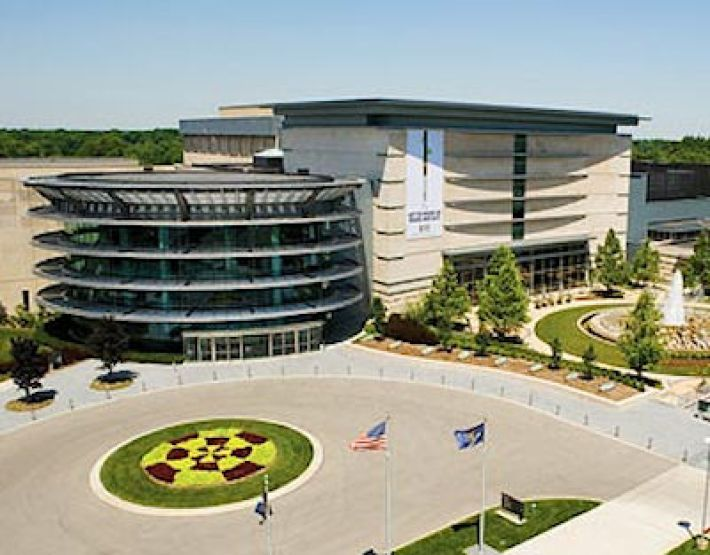Het Indianapolis Museum of Art in Indianapolis, Indiana, USA