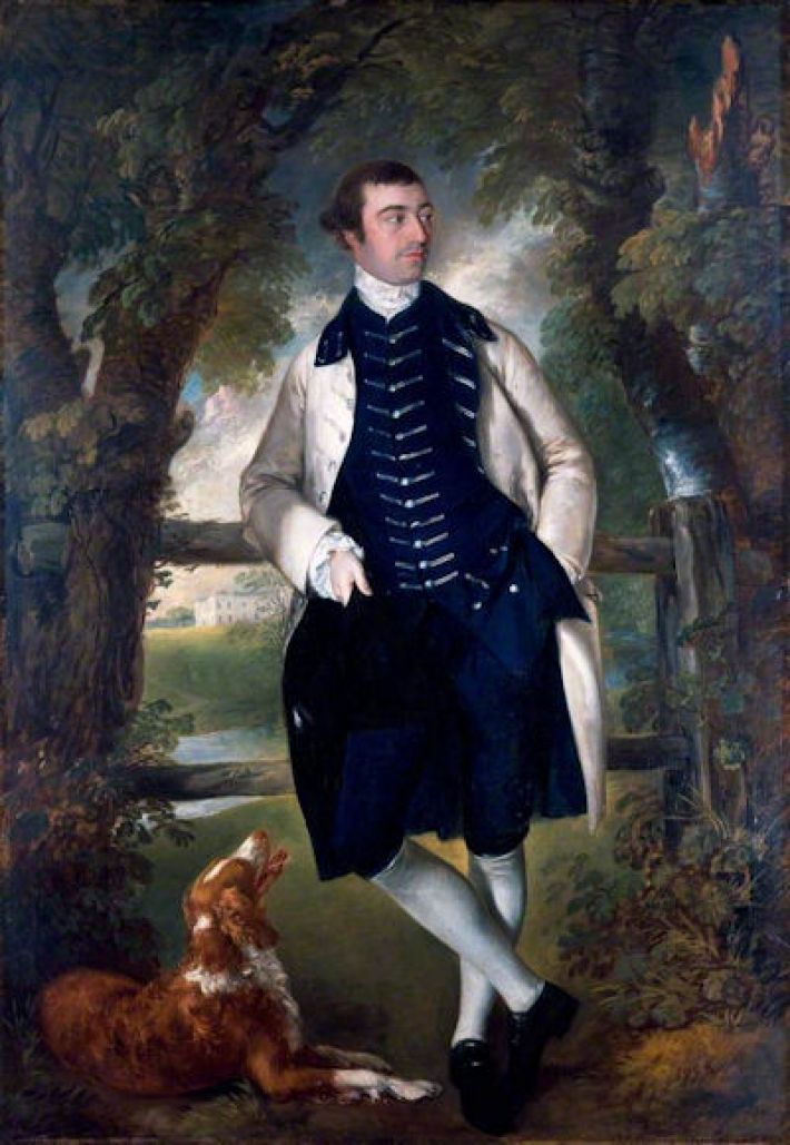 Thomas Gainsborough, William Wollaston, MP, ca. 1759, olieverf op doek, 215.9 x 147.3 cm, The Holburne Museum, Bath, Engeland