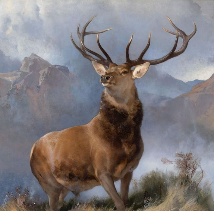 Edwin landseer (1802-1873), De vorst van de Glen [Engelse titel: 'The Monarch of the Glen'], 1848-51, olieverf op doek, 163.8 x 168.9 cm, National Galleries of Scotland, Edinburgh