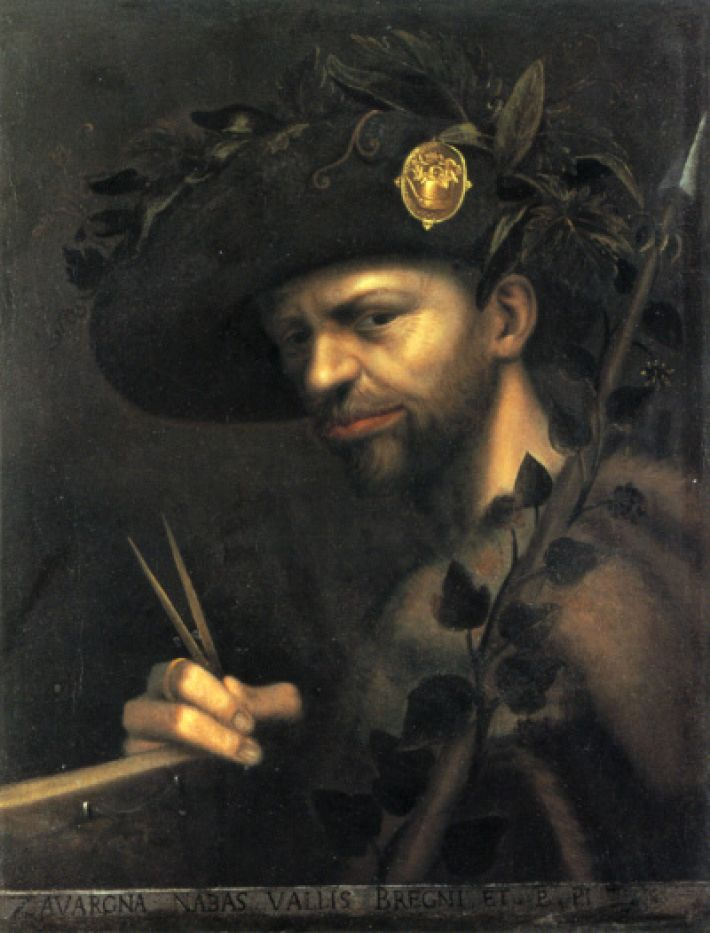 Giovanni Paolo Lomazzo (1538-1592), Zelfportret, ca. 1568, olieverf op doek, 55 x 43 cm, Pinacoteca di Brera, Milaan