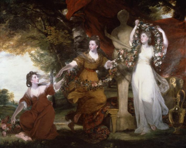Joshua Reynolds (1723-1792), Three Ladies Adorning a Term of Hymen, 1760, olieverf op doek, 233.7 x 290.8 cm, Tate Britain, Londen