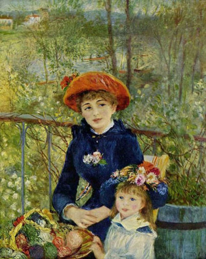 Pierre-Auguste Renoir, Sur la terrasse, 1881, olieverf op doek, 100 x 80 cm, Art Institute of Chicago
