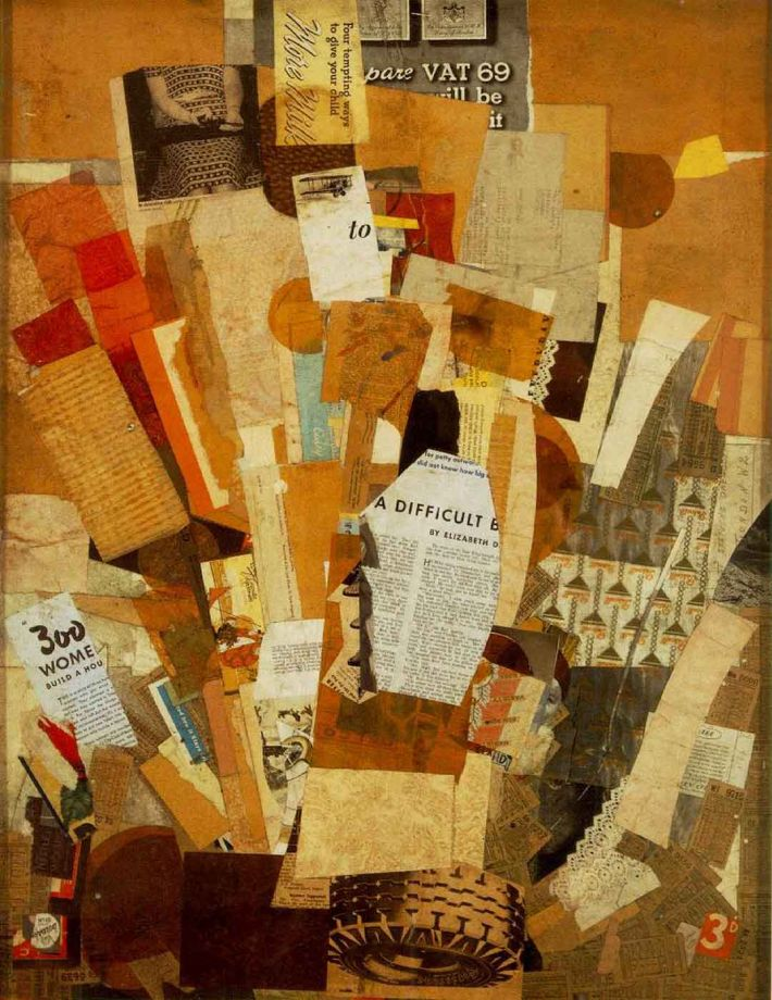 Kurt Schwitters, (Difficult), 1942-43, collage, 80 x 61 cm, Albright-Knox Art Gallery, Buffalo, New York