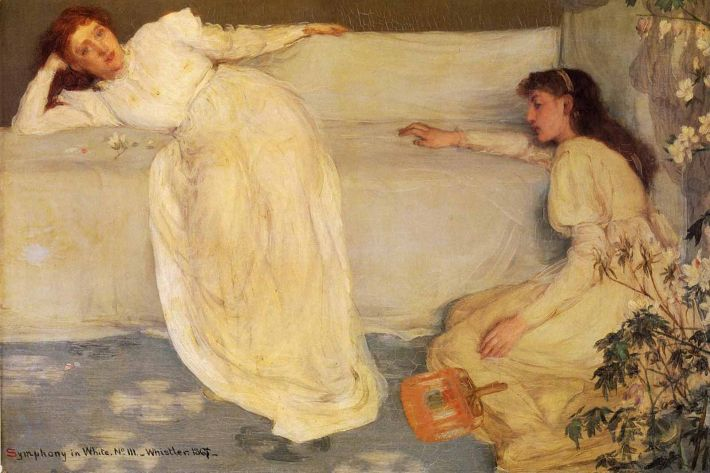 James Abbott McNeill Whistler, Symphony in White, No. 3, 1867, olieverf op doek, 52 x 77 cm, University of Birmingham, The Barber Institute of Fine Arts, Birmingham