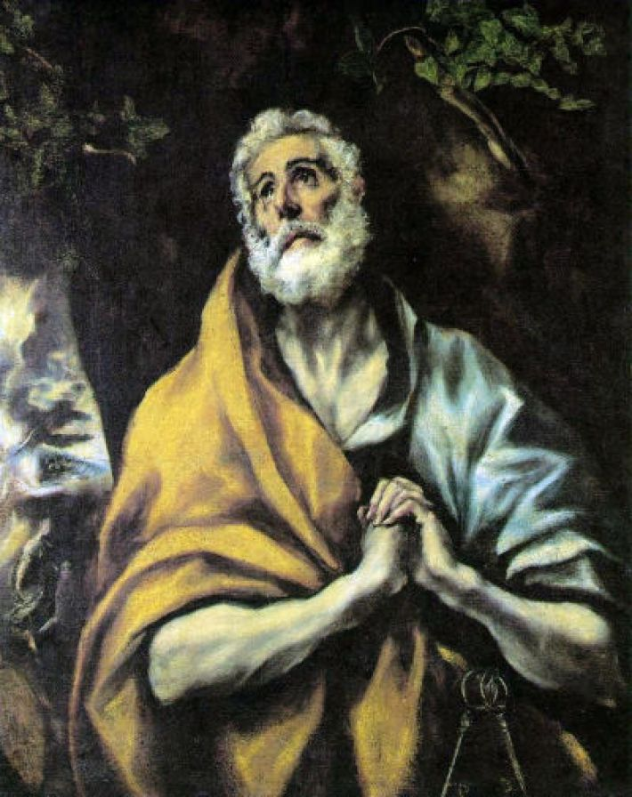 El Greco, De berouwvolle Petrus, ca. 1600, olieverf op doek, 93.6 x 75.2 cm, The Phillips Collection, Washington, D.C.