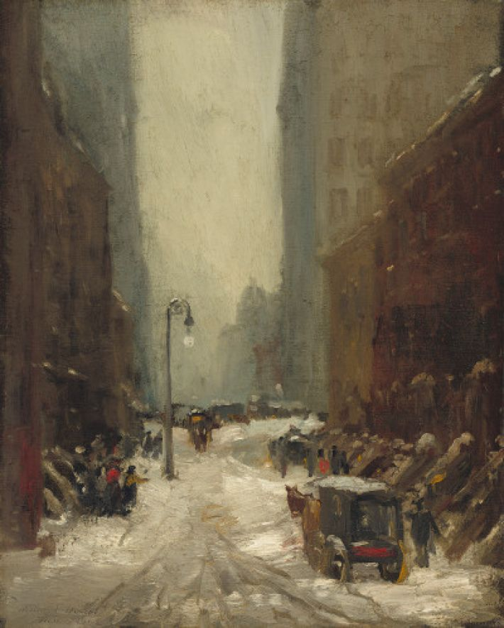 Robert Henri (1865-1929), Sneeuw in New York, 1902, olieverf op doek, 81.3 x 65.5 cm, National Gallery of Art, Washington