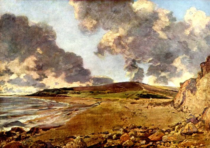 John Constable, Weymouth Bay, 1816, olieverf op doekd, 53 × 75 cm, National Gallery, Londen