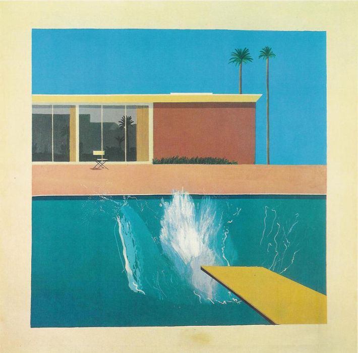 David Hockney, A Bigger Splash, 1967, acrylverf op doek, 244 x 244 cm
