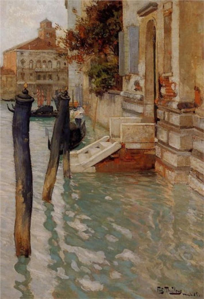 Frits Thaulow, On the Grand Canal, 1885, olieverf op paneel, 52 x 36 cm, privécollectie