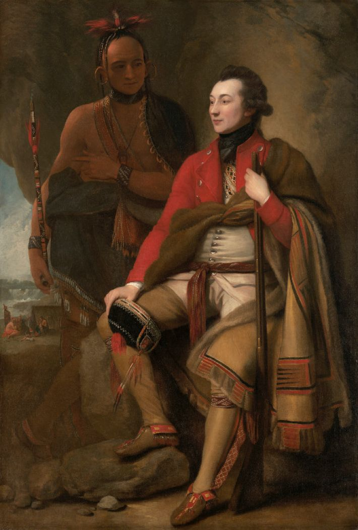 Benjamin West (1738-1820), Portret van kolonel Guy Johnson, ca. 1775. olieverf opdoek, 203 x 138 cm,  National Gallery of Art, Washington
