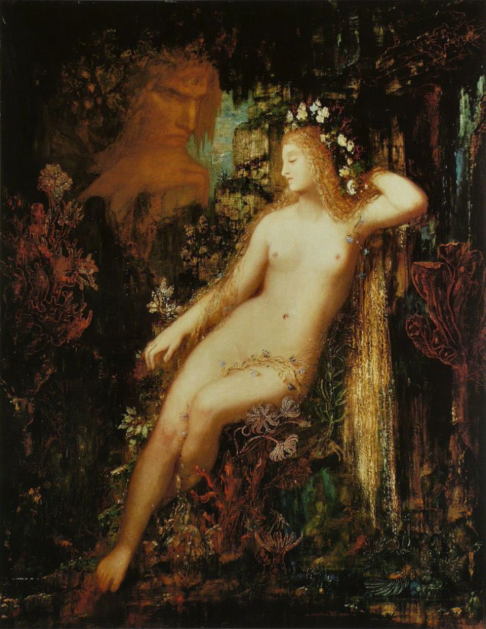 Gustave Moreau, Galatea, ca. 1880, olieverf op paneel, 85.5 x 66 cm, privécollectie