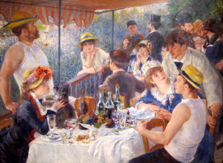 Renoir, Lunch van de roeiers, 1880-81, olieverf op doek, 130 x 173 cm, Phillips Collection, Washington DC