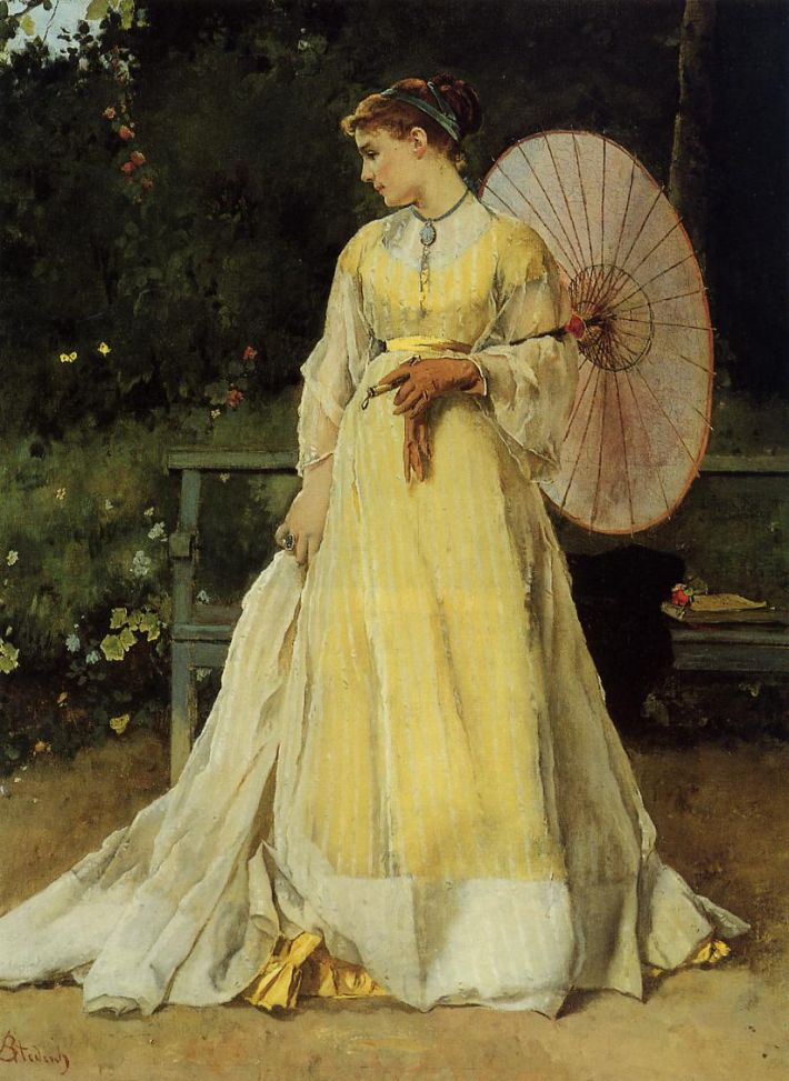 Alfred Stevens, In the Country, ca. 1867, olieverf op doek, privécollectie