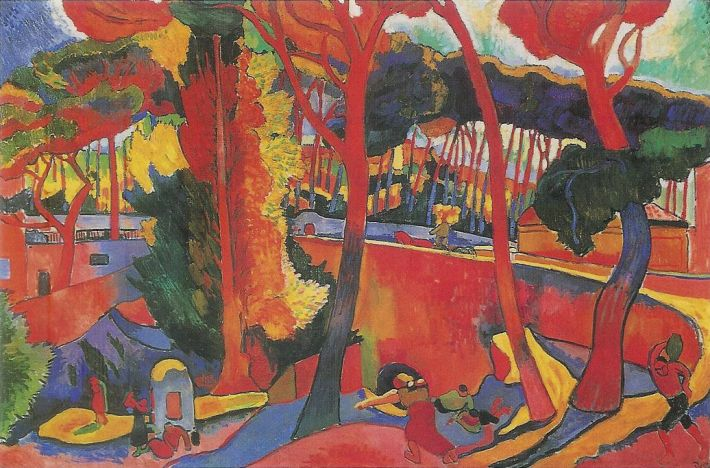 Andre Derain, The Turning Road, L´Estaque, 1906, olieverf op doek, 130 x 190 cm. Museum of Fine Arts, Houston