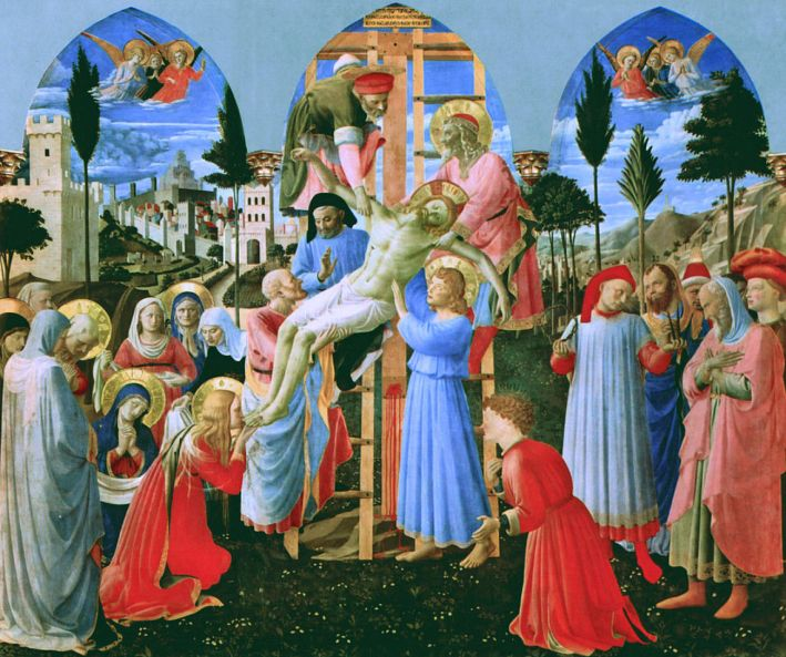 Fra Angelico, Kruisafname, 1437-40, tempera op hout, 176 x 185 cm, Museo di San Marco, Florence
