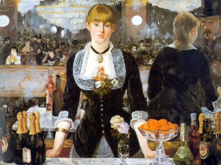 Édouard Manet, Een bar in de Folies-Bergère, 1882, olieverf op doek, 96 x 130 cm, Courtauld Institute of Art, Londen