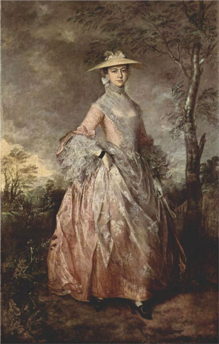 Thomas Gainsborough, Portret van Mary, Countess Howe, ca. 1760, olieverf op doek, 244 x 152 cm, Kenwood House, Iveagh Bequest, Londen