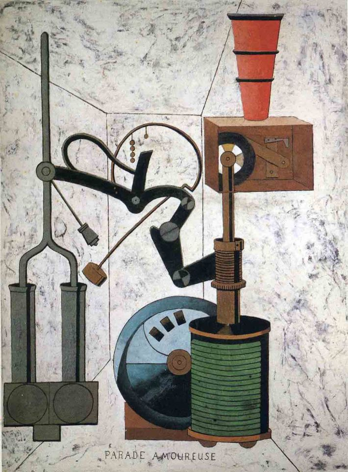 Fancis Picabia, Parade Amoureuse, 1917, olieverf op karton, 95 x 72 cm, privécollectie