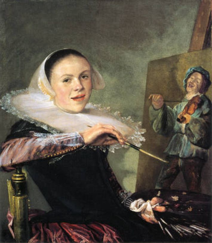 Judith Leyster (1609-1660), Zelfportret, ca. 1630, olieverf op doek, 75 x 65 cm, National Gallery of Art, Washington DC