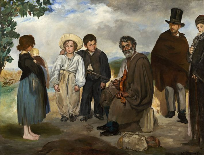 Édouard Manet (1832-1883), De oude muzikant, 1862, olieverf op doek, 187.4 x 248.2 cm, National Gallery of Art, Washington
