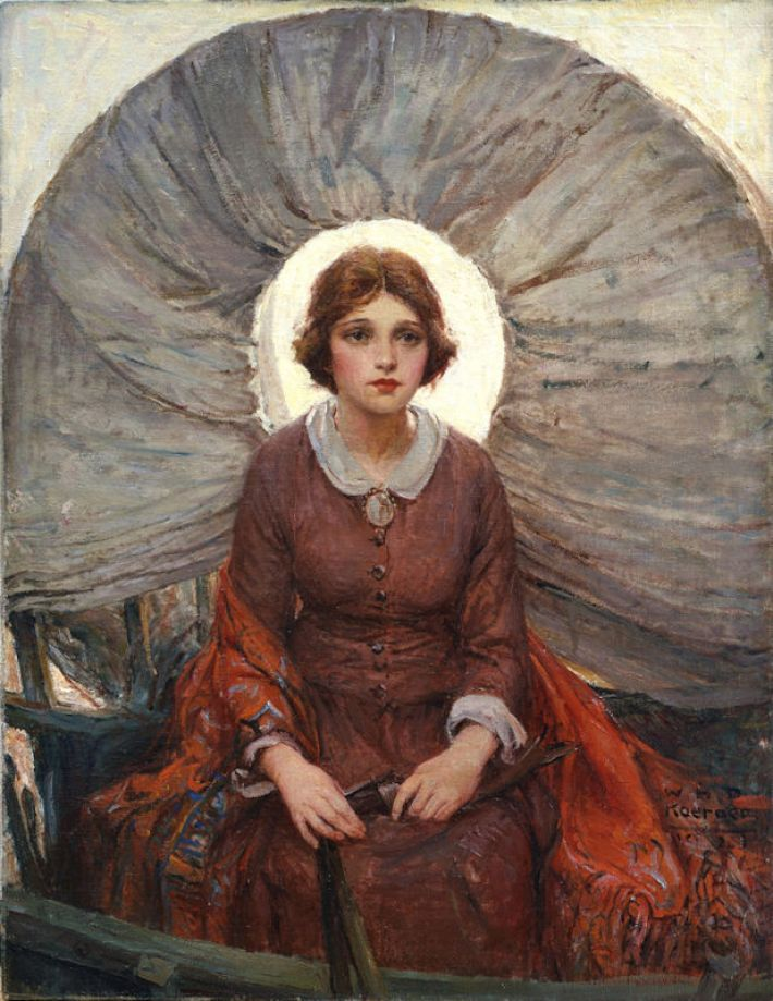 W.H.D. Koerner (1878-1938), Madonna van de Prairie, 1921, olieverf op doek, 94 x 73 cm, Buffalo Bill Center of the West, Cody