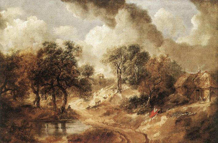 Thomas Gainsborough (1727-1788), Landschap in Suffolk, ca. 1750, olieverf op doek, 65 x 95 cm, Kunsthistorisches Museum, Wenen