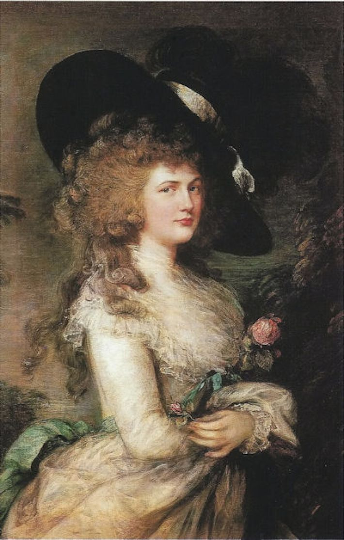 Thomas Gainsborough (1727-1788), Portret van Georgiana, Hertogin van Devonshire, 1787, olieverf op doek, 127 x 101.5 cm, Chatsworth House, Bakewell