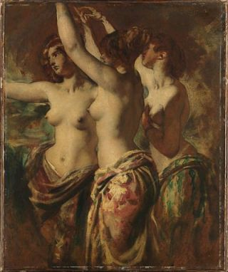 De drie Gratiën (ongedateerd) - William Etty