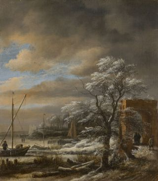 Winter landschap (1660-69) - Jacob van Ruisdael