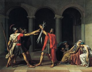 De eed van de Horatii (1784-85) - Jacques-Louis David