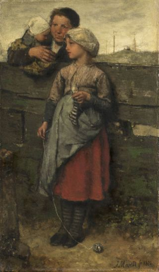 Dorpelingen (1872) - Jacob Maris