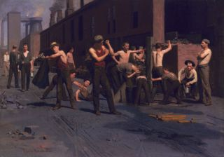 The Ironworkers' Noontime (1880) - Thomas Anshutz