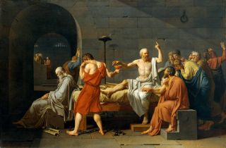 De dood van Socrates (1787) - Jacques-Louis David