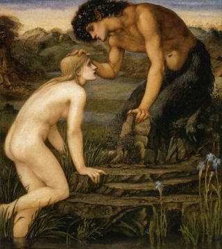 Pan en Psyche (1872-74) - Edward Burne-Jones