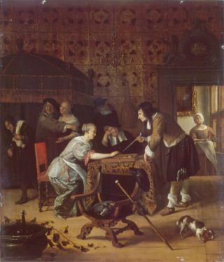 Tric Trac spelers (1667) - Jan Steen